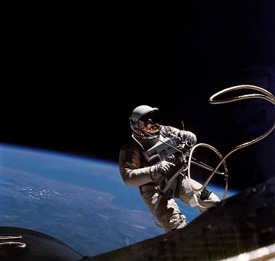 Astronaut Edward White Floating Art Print