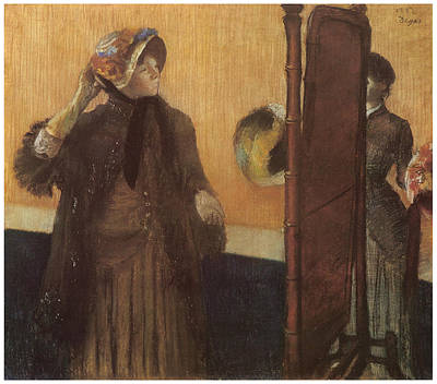 Milliner Pastel - At The Milliner's by Edgar Degas