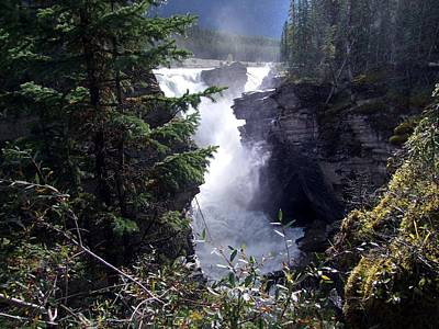 Photograph - Athabasca Falls by George Cousins