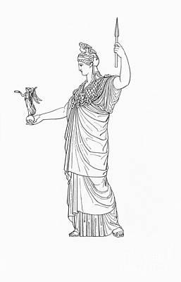 Winged Victory Photograph - Athena, Greek Goddess by Photo Researchers