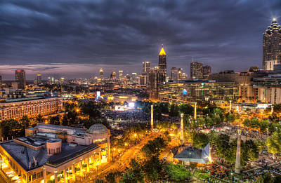 Photograph - Atlanta Skyline by Anna Rumiantseva