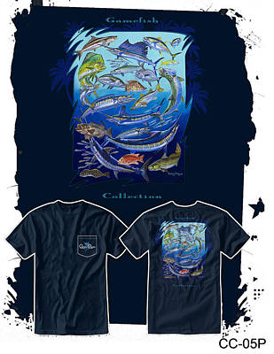 Shirt Digital Art - Atlantic Gamefish by Carey Chen