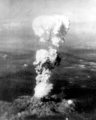 Atomic Bomb. A Mushroom Cloud Rises Art Print by Everett