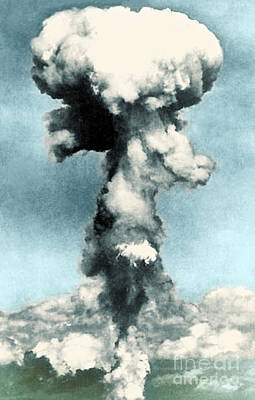 Atomic Bombing Of Nagasaki Art Print by Science Source