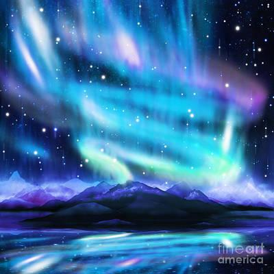 Beam Digital Art - Aurora Borealis  by Setsiri Silapasuwanchai