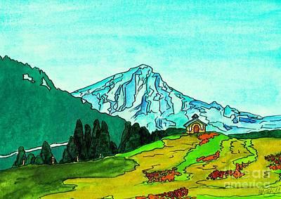 Colourfull Painting - Austrian Alps by Michaela Bautz