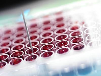 Automated Blood Screening Art Print by Tek Image