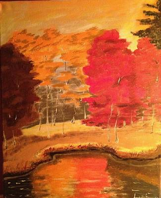 Art Print featuring the painting Autumn by Brindha Naveen