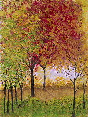 Painting - Autumn Walk by Flo Markowitz