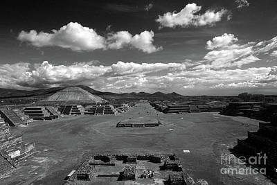 Photograph - Avenue Of The Dead Teotihuacan Mexico by John  Mitchell