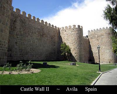 Photograph - Avila Ancient Castle Wall II Spain by John Shiron