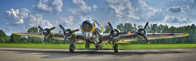 Photograph - B-17 by Williams-Cairns Photography LLC