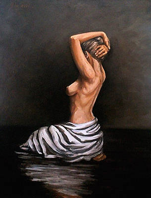 Painting - Back Nude by Natalia Tejera