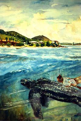 Back To Culebra Island Puerto Rico Art Print by Estela Robles
