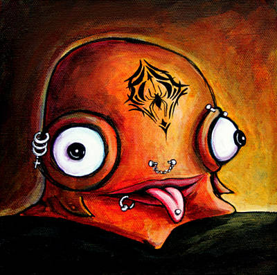 Painting - Bad Boy Glob by Leanne Wilkes