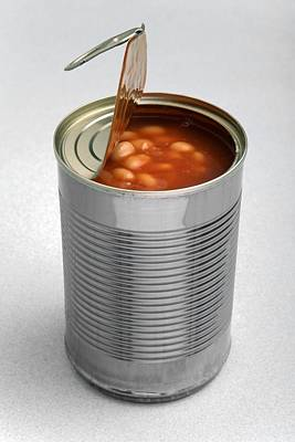 Pull Ring Photograph - Baked Beans In A Can by Victor De Schwanberg
