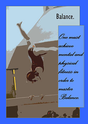 Balance Art Print by Peter  McIntosh