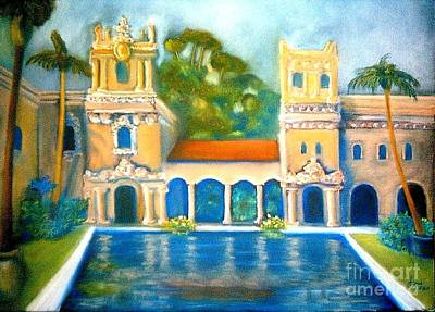 Painting - Balboa Reflection Pond by Jose Breaux