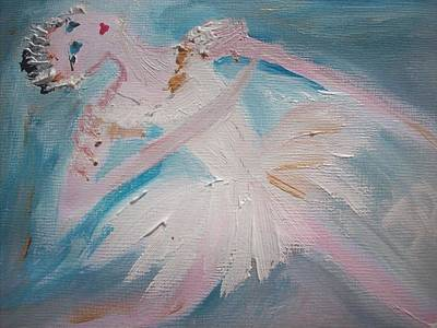 Solo Dancer Painting - Ballet Solo by Judith Desrosiers