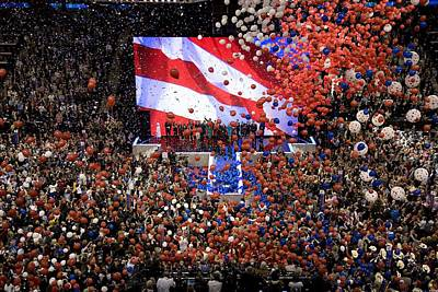2008 Election Photograph - Balloons Drop At The Convention Center by Everett