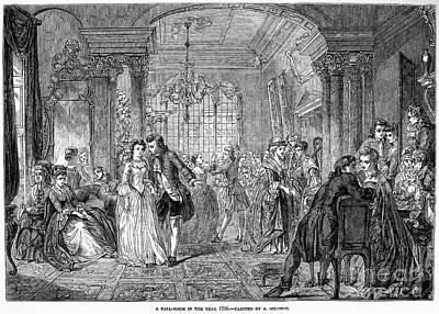 Ball Gown Photograph - Ballroom, 1760 by Granger