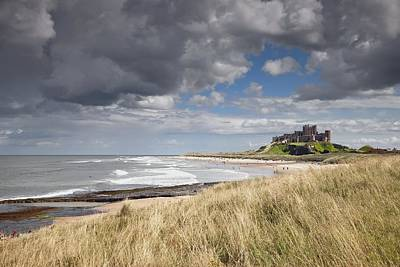 Castles In The Sand Photograph - Bamburgh Castle Northumberland, England by John Short