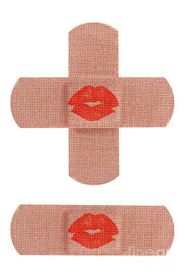 Protection Photograph - Bandages With Kiss by Blink Images
