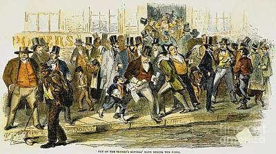 Bank Panic: 1857 Art Print