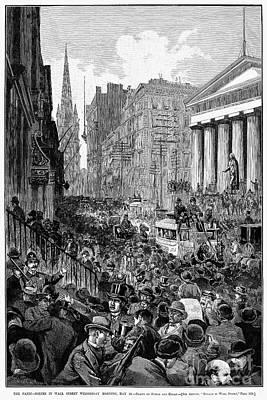 Bank Panic, 1884 Art Print