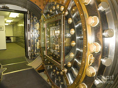 Bank Vault Interior Art Print by Adam Crowley