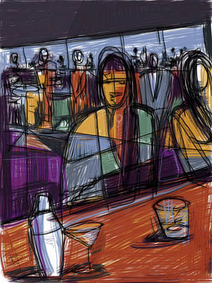 Mixed Media - Bar Talk by Russell Pierce