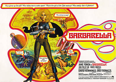 Barbarella, Jane Fonda, 1968 Art Print by Everett