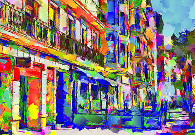 Barcelona Digital Art - Barcelona Street by Yury Malkov