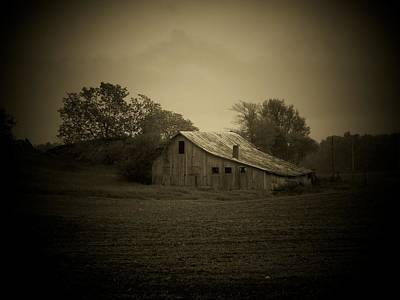 Indiana Landscapes Photograph - Barn In Field by Michael L Kimble