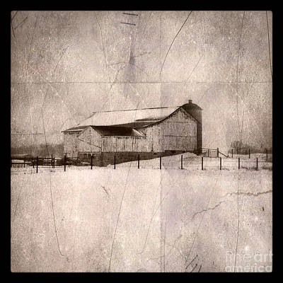 Photograph - Barn In Snow by Jill Battaglia