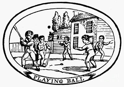 Baseball Game, 1820 Art Print by Granger