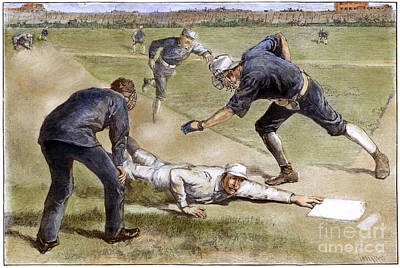 Baseball Game, 1885 Art Print by Granger