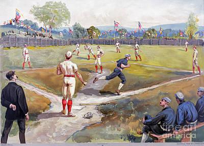 Baseball Game, C1887 Art Print by Granger