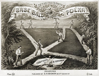 Photograph - Baseball Polka, 1867 by Granger