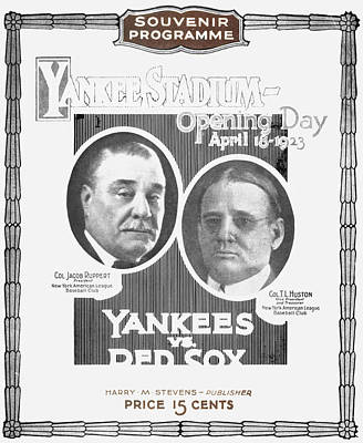 Baseball Program, 1923 Print by Granger