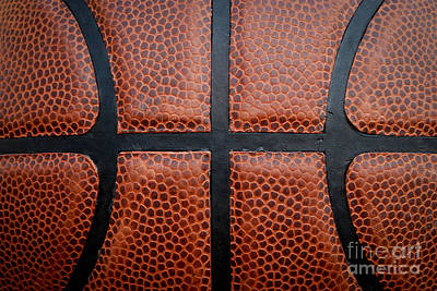 Basketball - Leather Close Up Art Print by Ben Haslam