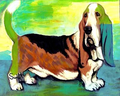 Basset Hound Painting - Basset Hound by Char Swift