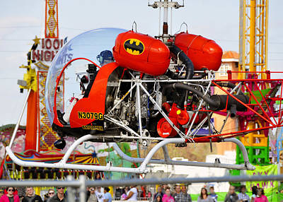 Batman And Robin Photograph - Batcopter by David Lee Thompson