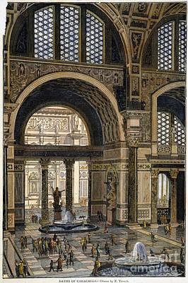 Baths Of Caracalla, Rome Art Print by Granger