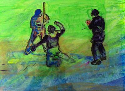 Batter Up Original by Gail Eisenfeld
