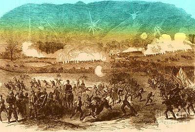 Photograph - Battle Of Chancellorsville, 1863 by Photo Researchers
