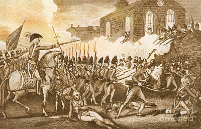 Battle Of Concord, 1775 Art Print by Photo Researchers
