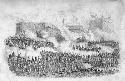 Battle Of Monterrey, 1846 Art Print by Granger