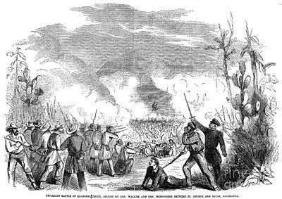 Battle Of Quarisma, 1857 Art Print