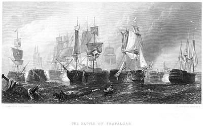 Lord Admiral Nelson Photograph - Battle Of Trafalgar, 1805 by Granger